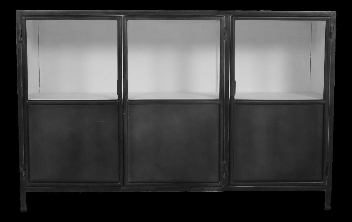 sideboard bronx eisen grau weiss kommoden tv schr nke henk schram meubelen. Black Bedroom Furniture Sets. Home Design Ideas
