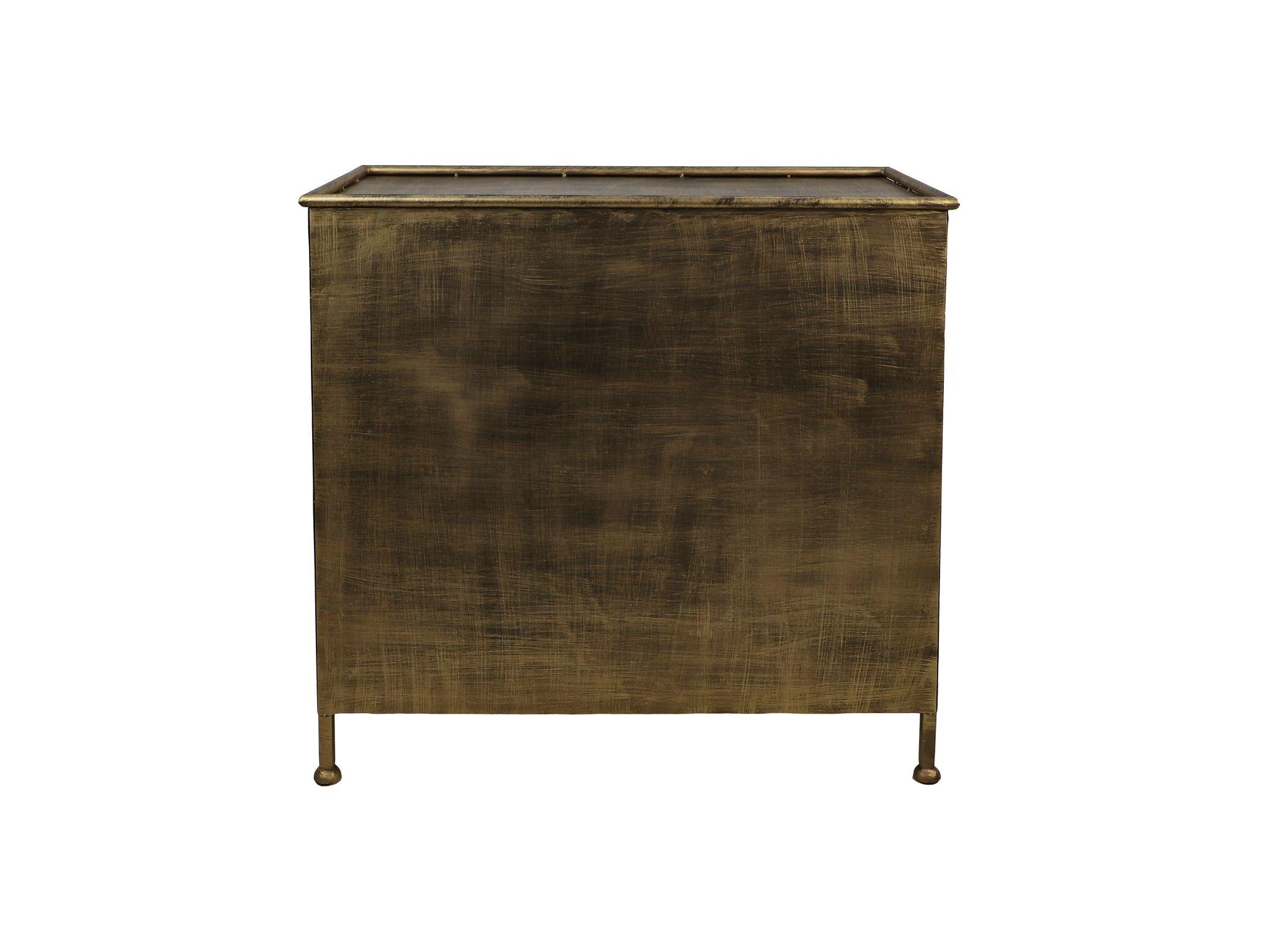 Vitrinekastje Fletcher - 93x42x90 - Antique Gold - Metaal/glas