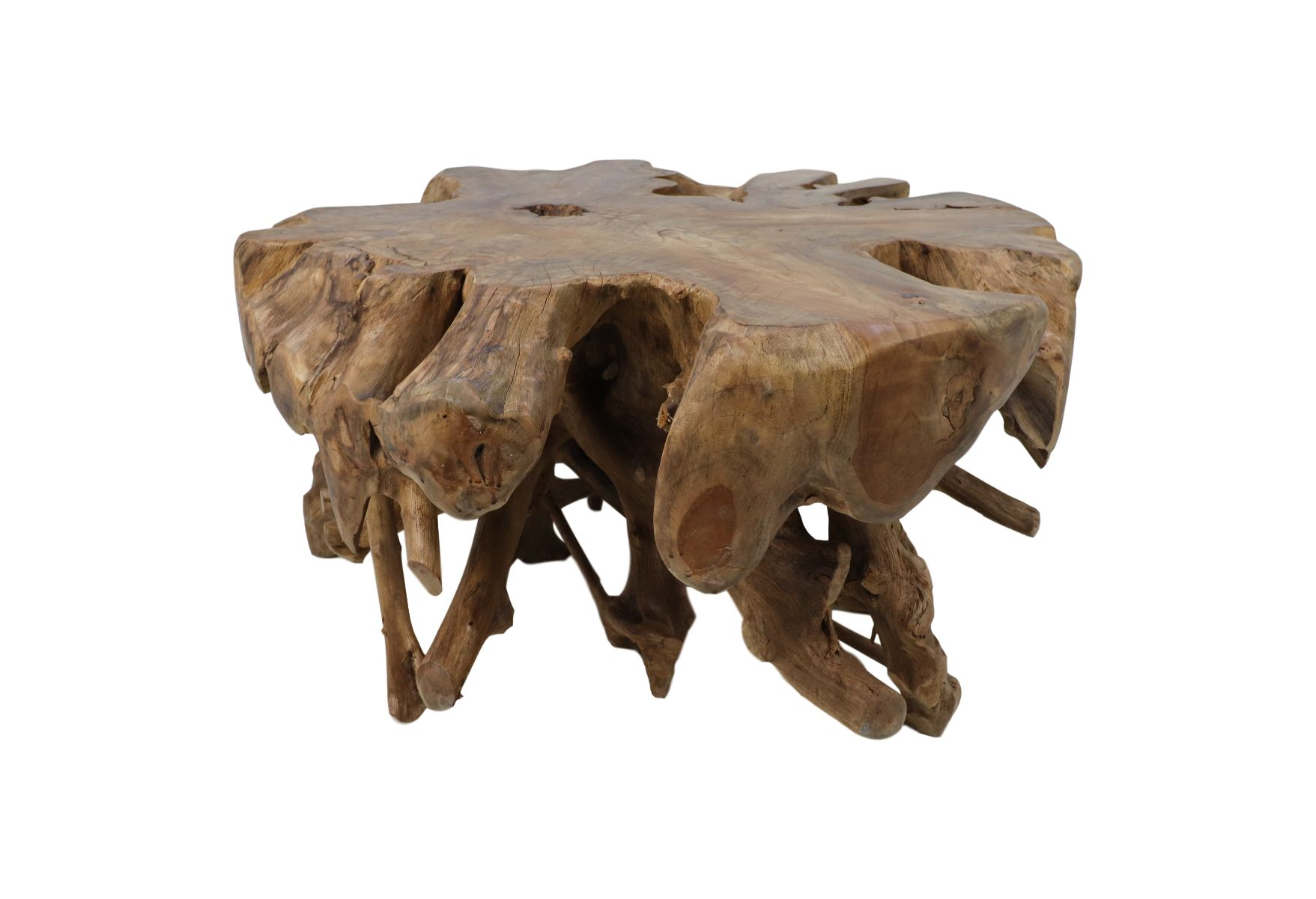Solid Rustic Teak Root Furniture Unique Coffee Side Spider Table Home or Garden