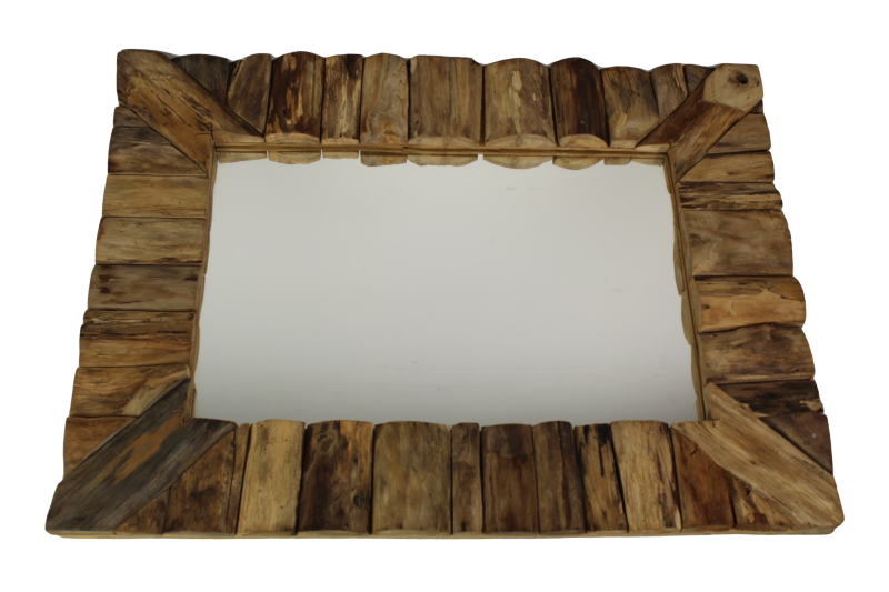 Badkamer Spiegel 60x80 : Framed wall mirror 60x80 cm natural teak mirrors & wall