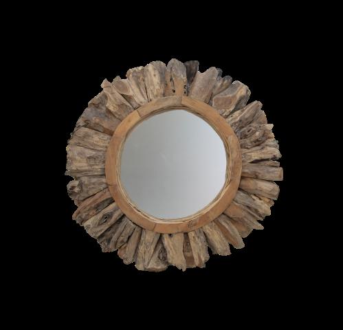 Wall Mirror Sun O108 Cm Teak Root Mirrors Wall Decor Henk Schram Meubelen