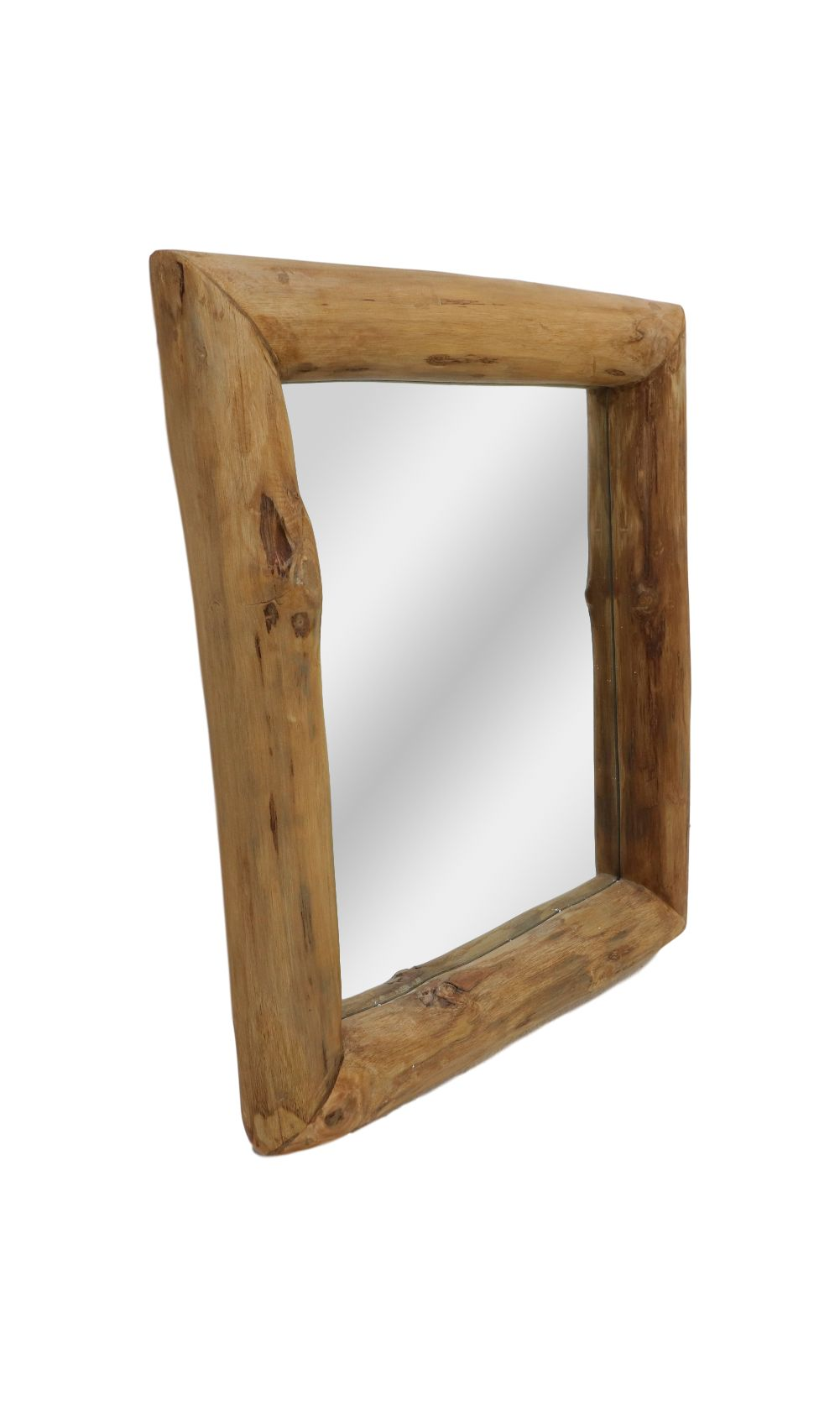 Wandspiegel - 50x60 cm - teakhout