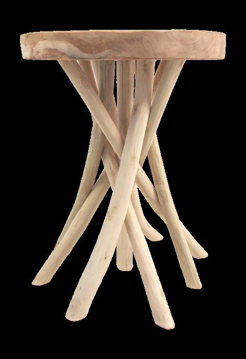 Superb Accent Stool Branch Light Brown Teak Small Furniture Creativecarmelina Interior Chair Design Creativecarmelinacom