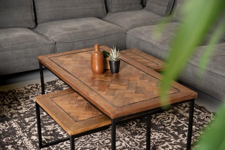 Fine Coffee Table Set Bradley Recycled Java Wood Iron Coffee Lamtechconsult Wood Chair Design Ideas Lamtechconsultcom