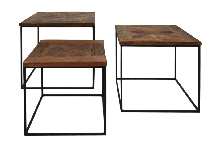 Coffee Table Set Austin Recycled Java