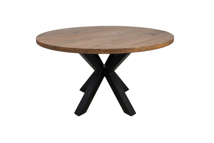 Round Dining Table Oakland 130 Cm Solid Mango Wood Iron Tables Table Tops Henk Schram Meubelen