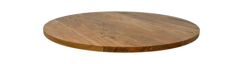 Round Table Top ø140 Cm Acacia, Round Table Tops Uk