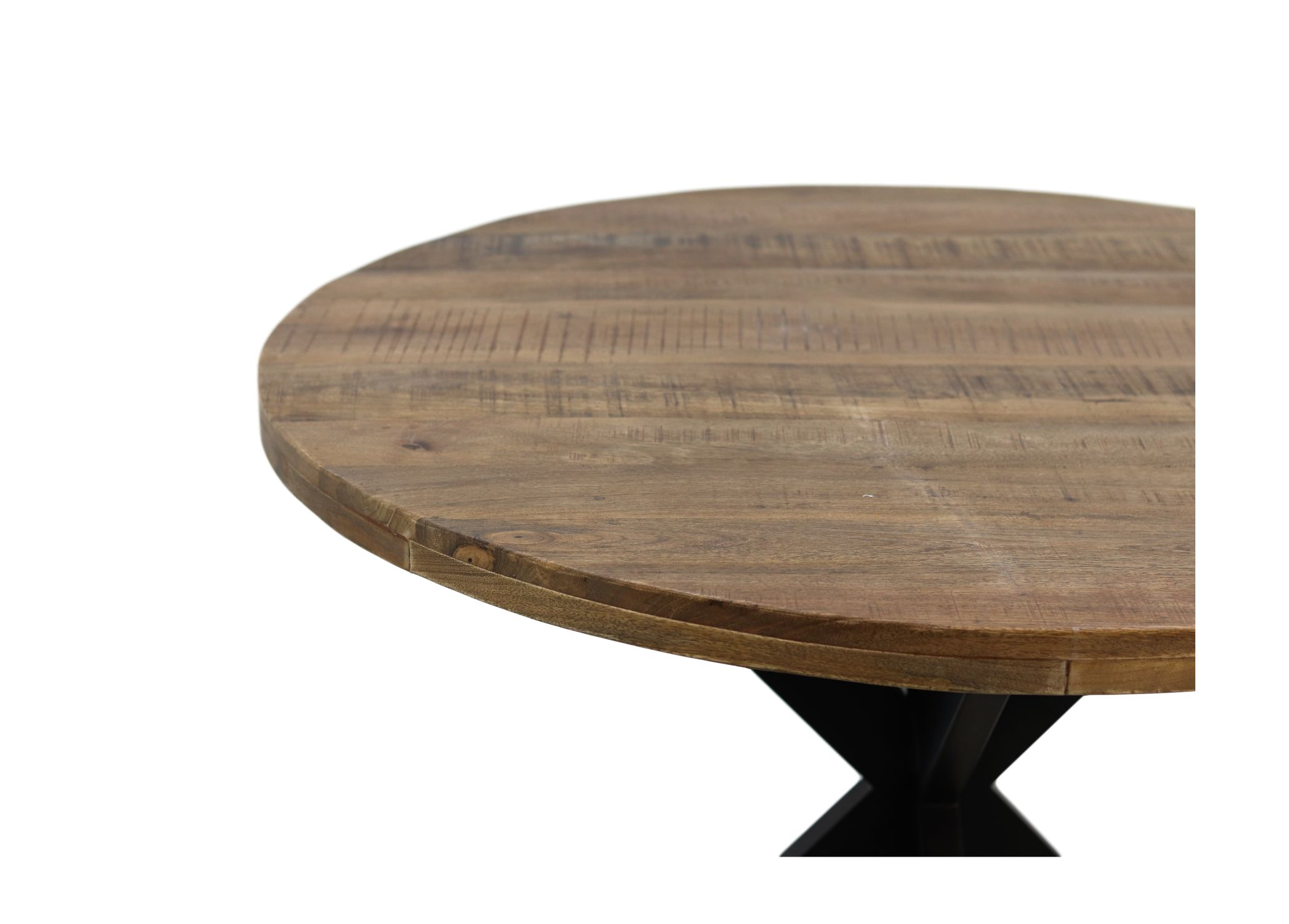 Round Dining Table O150 Cm Rustic Mango Wood Iron Tables Table Tops Henk Schram Meubelen