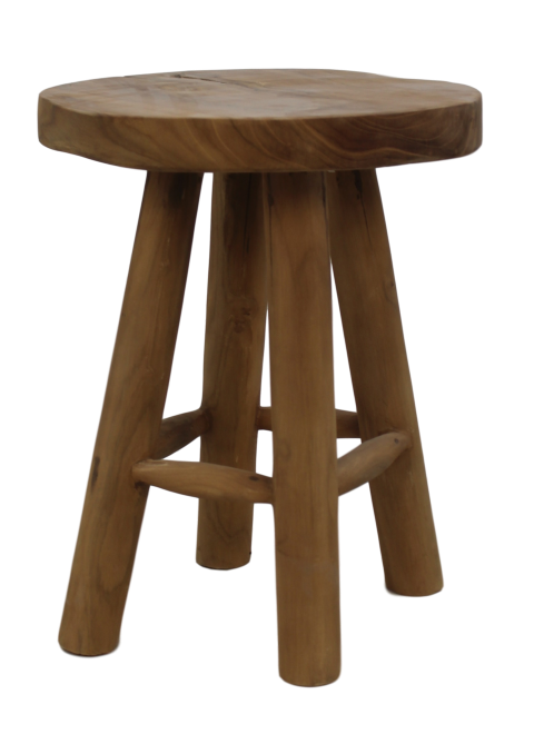 Astounding Round Stool Natural Teak Small Furniture Pieces Creativecarmelina Interior Chair Design Creativecarmelinacom