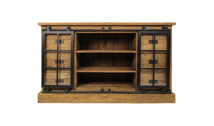 Sideboard Blackburn - Reclaimed teak/iron