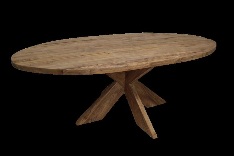Teak Tafels Haarlem : Ovale eettafel cm blank erosie teak tafels