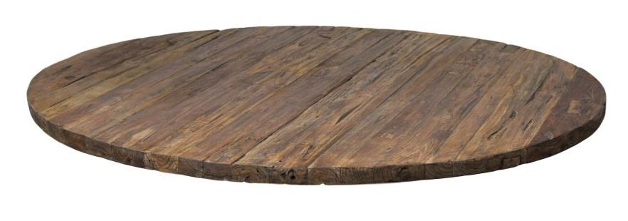 Table top - round - ø130 cm - reclaimed teak erosion