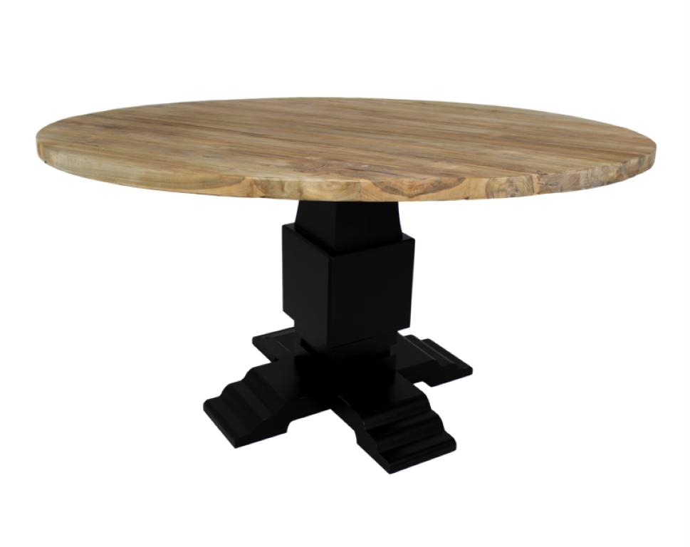 Onderstel voor ronde tafel zwart mahonie tafelpoten