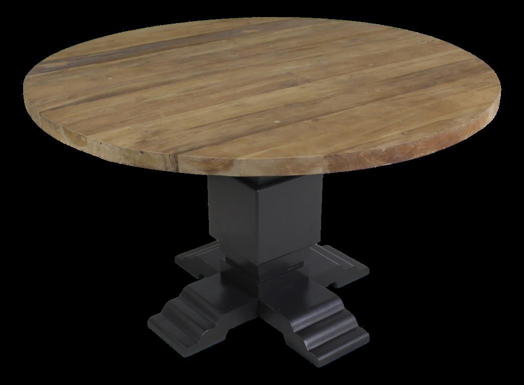 Onderstel voor ronde tafel staal kleurig mahonie tafelpoten
