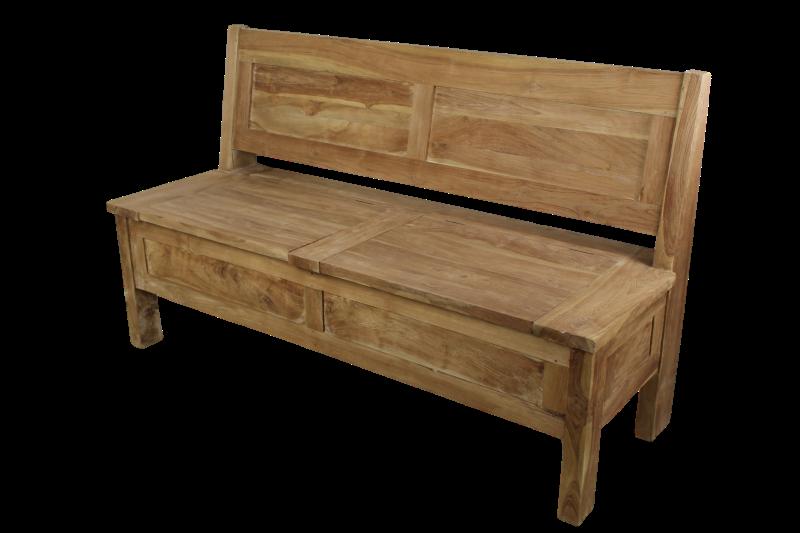 Bank 120 Cm : bank met opbergvak 120 cm blank teak stoelen banken henk schram meubelen ~ Indierocktalk.com Haus und Dekorationen