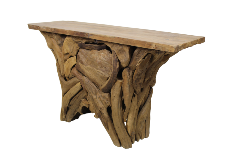 Sidetable Root Tempel - teak wortelhout