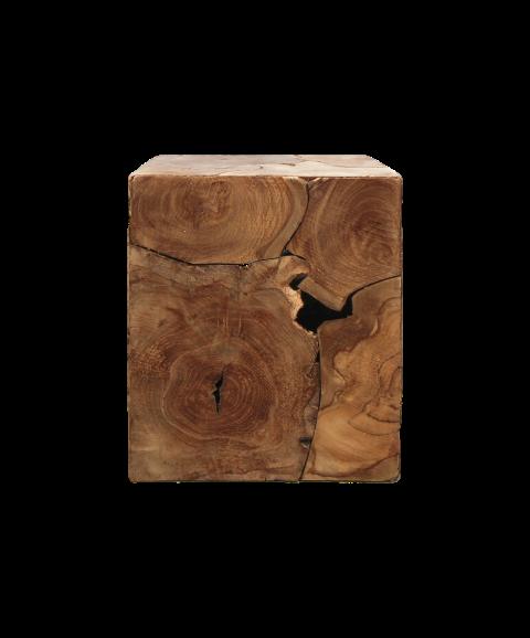 Houten Bijzettafel Kubus.Kubus Bijzettafel 30x30 Cm Teak Natural Wax