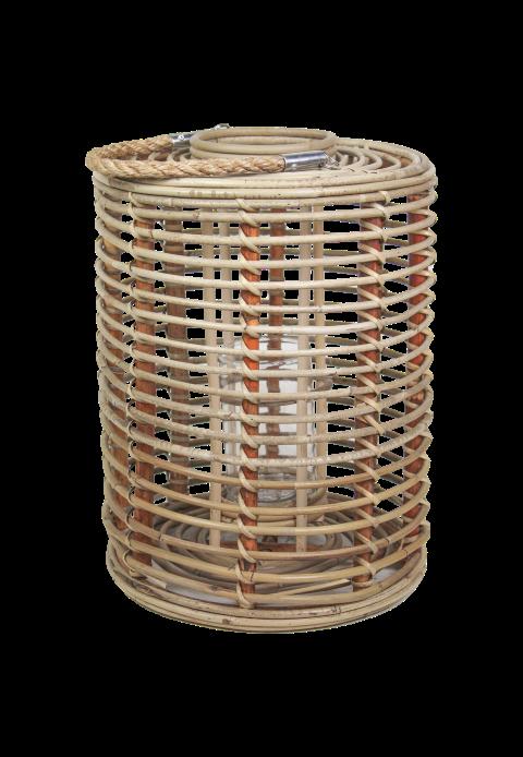 Lantaarn Cilinder - large - koboo grey - bamboe