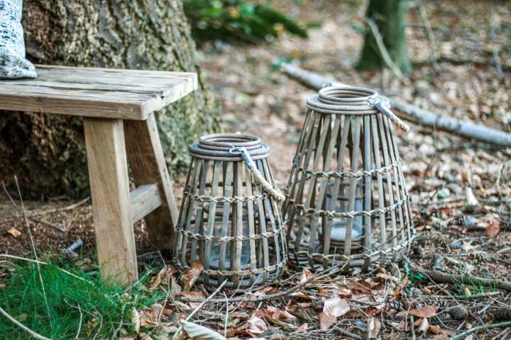 Lantaarn Jambu - large - naturel bruin - bamboe