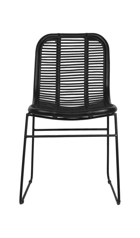 Dining Chair   Black   Rattan ...