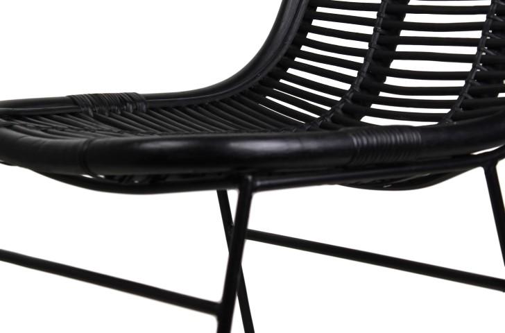 ... Dining Chair   Black   Rattan