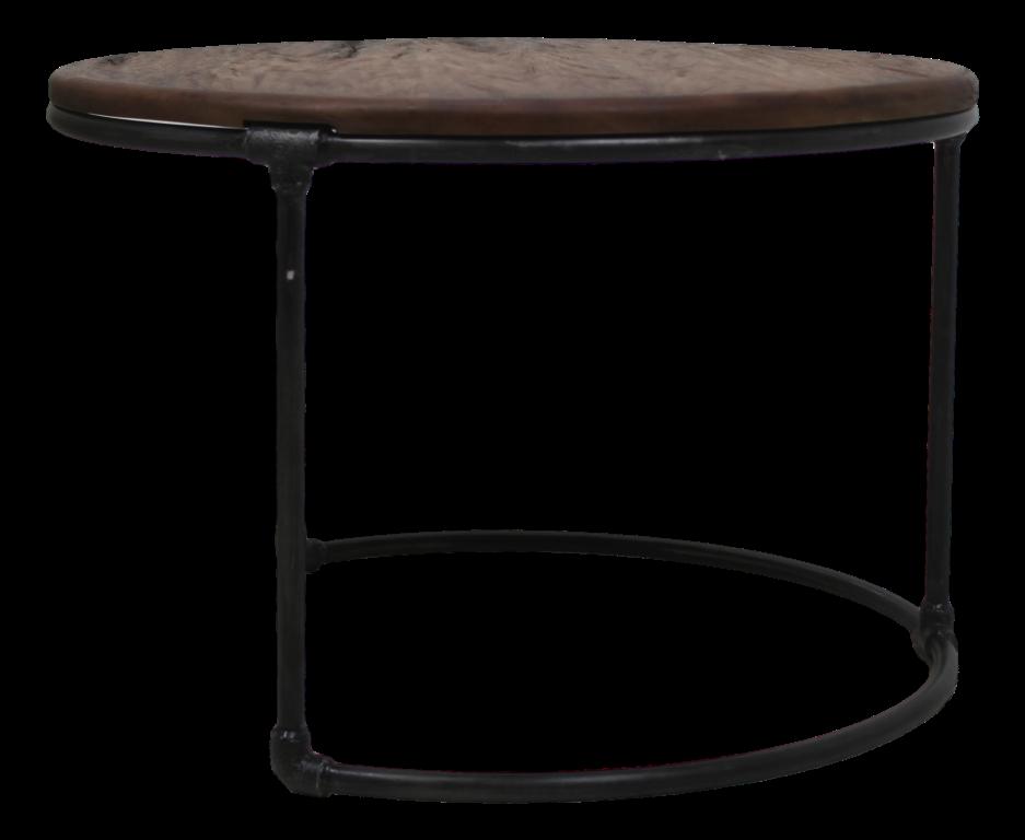 Side table vintage 70x70 cm vintage iron metal for Table 70x70 design