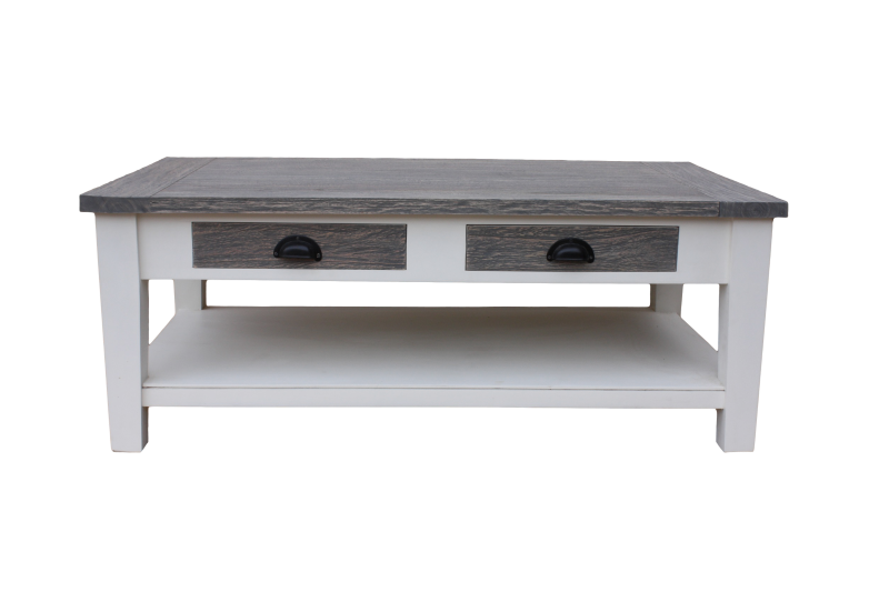 Coffee Table Toronto   120x70 Cm   White/grey Wash   Java Mixed Wood