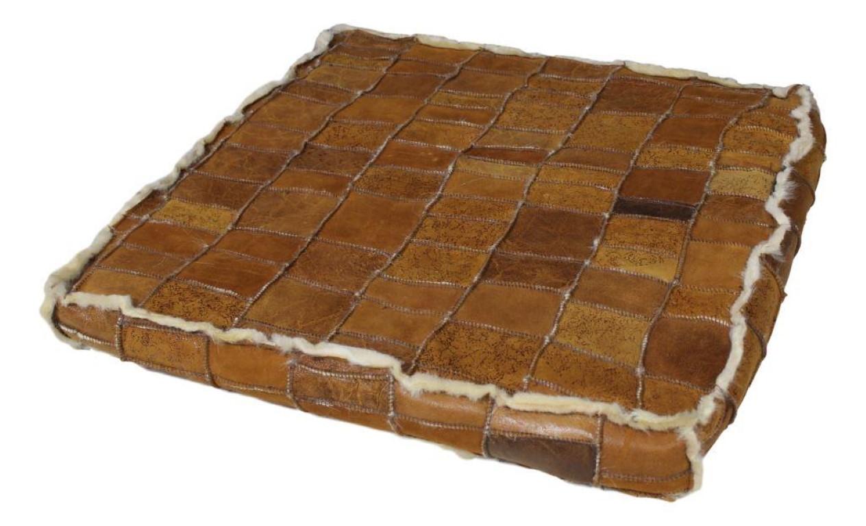 patchwork kissen 70x70 cm braun dekoration felle henk schram meubelen. Black Bedroom Furniture Sets. Home Design Ideas