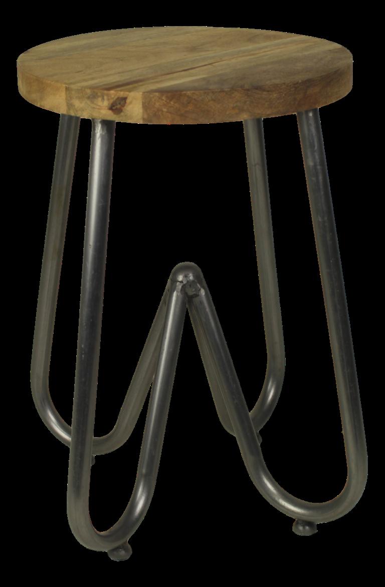 Groovy Stool Elina Mango Wood Iron Natural White Small Ibusinesslaw Wood Chair Design Ideas Ibusinesslaworg
