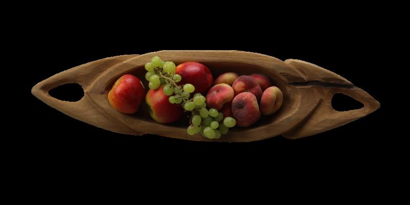 Natural Living Meubelen : Fruit bowl kano natural teak decoration & hides henk schram