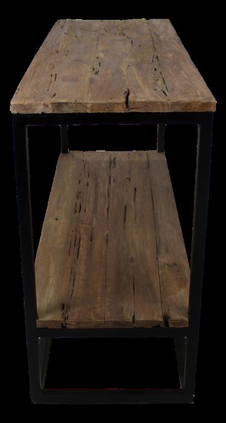 couchtisch eisen holz latest wl wohnling couchtisch cm bellary aus recyceltem sleeper wood und. Black Bedroom Furniture Sets. Home Design Ideas