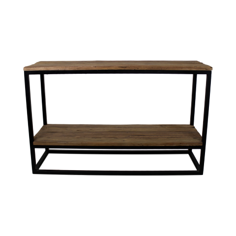 Console Table Old Wood Iron