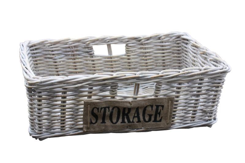 Mand Storage voor HK157 - white wash - rotan