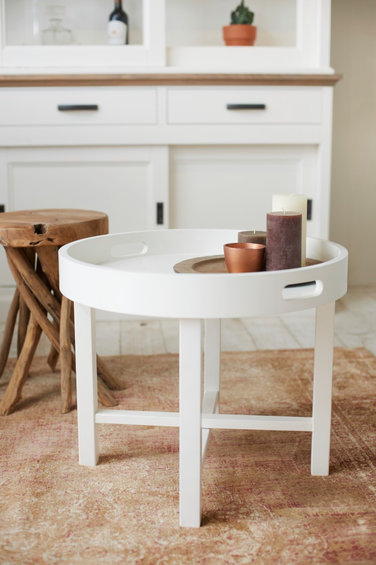 Folding Coffee Table White