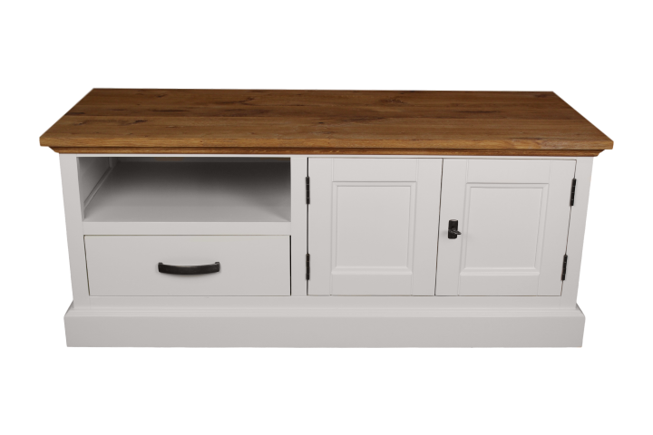 Tv stand provence natural oak white sideboards tv stands