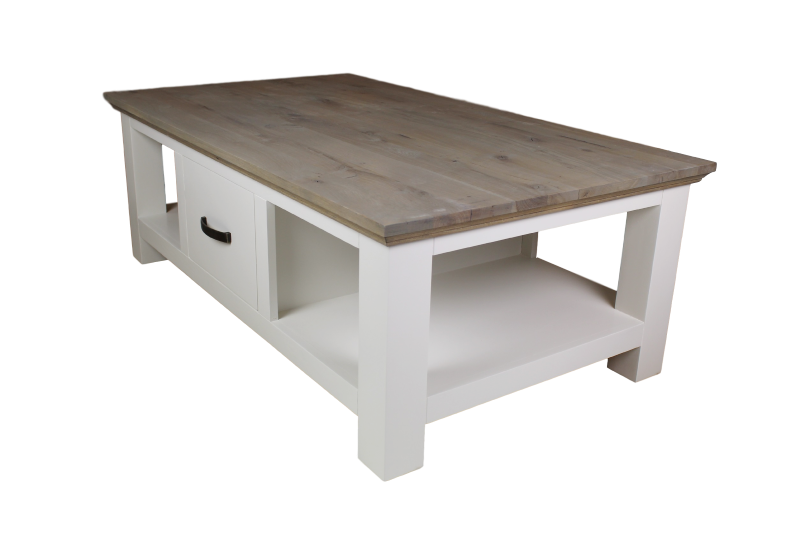 Coffee Table Provence Grey Oak White