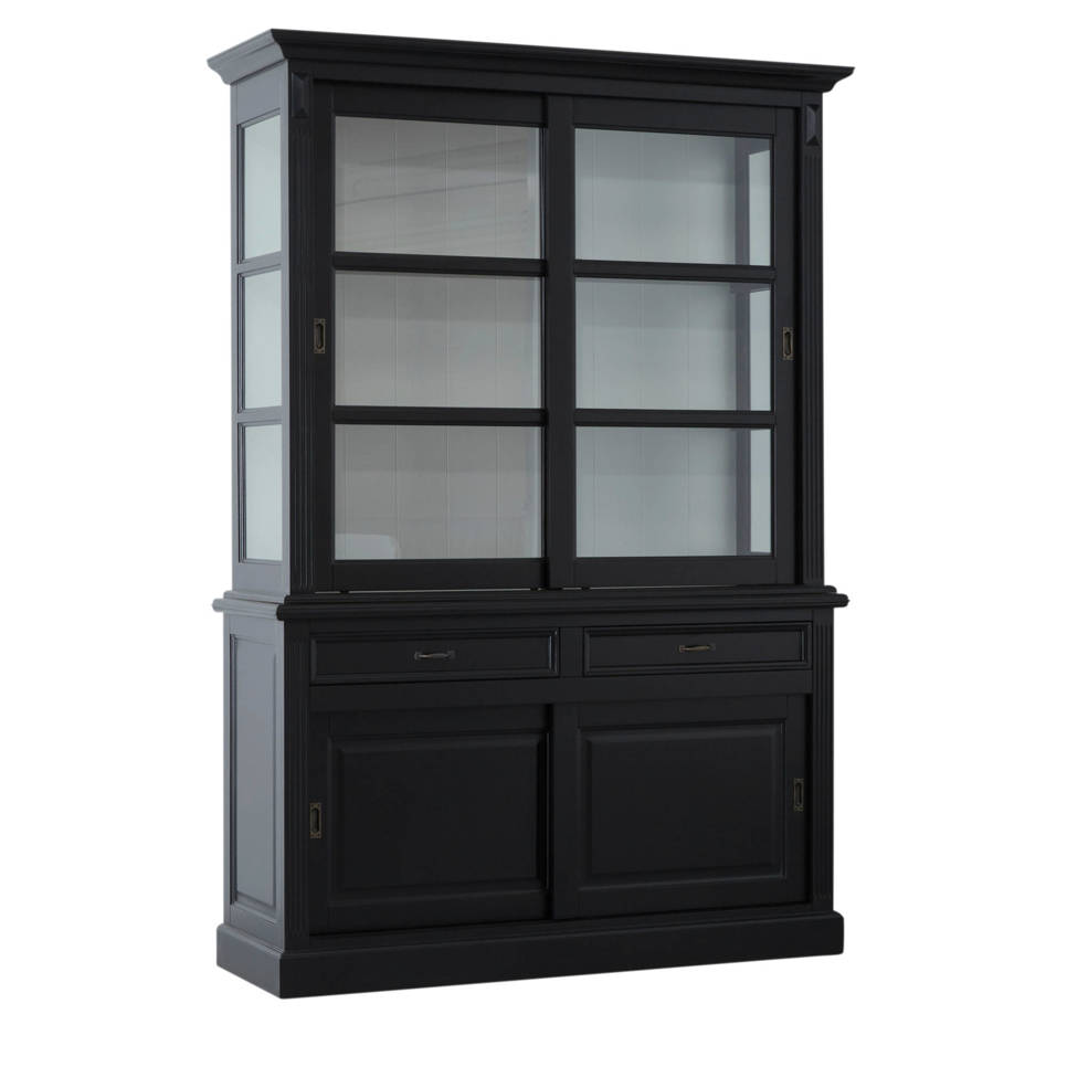 Display cabinet Provence - 150 cm - black/white