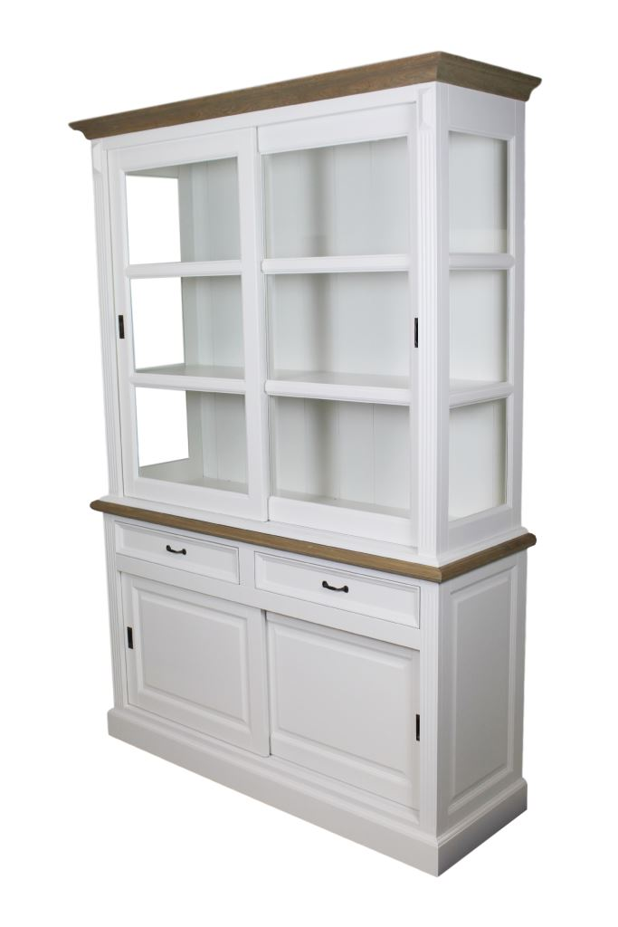 display cabinet 150 cm white grey oak cabinets henk schram meubelen. Black Bedroom Furniture Sets. Home Design Ideas