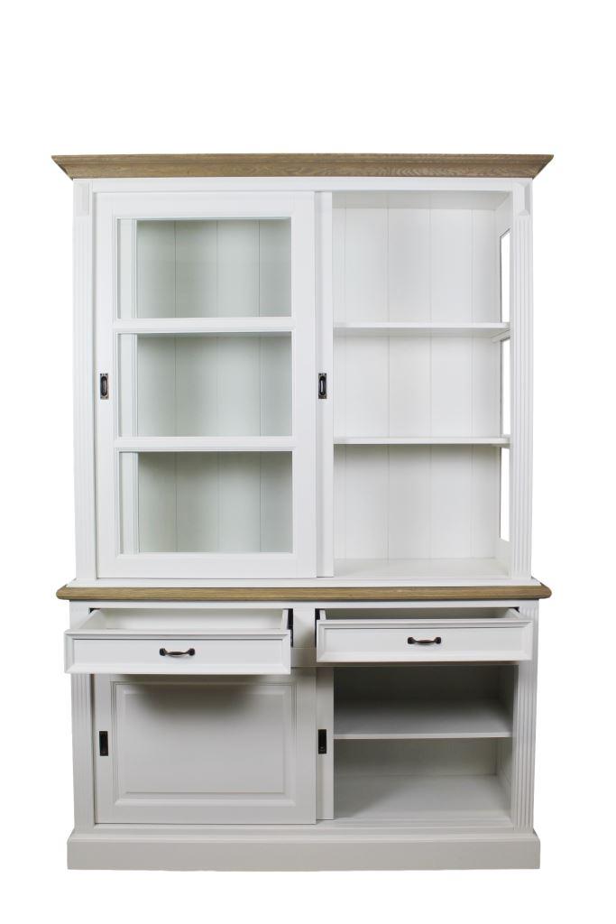 Display Cabinet 150 Cm White Grey Oak Cabinets Henk Schram Meubelen