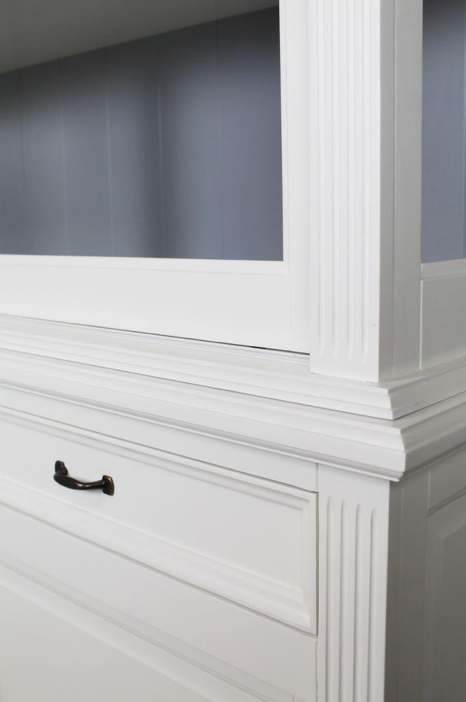 Buffetkast Provence - 150 cm - wit/grijs