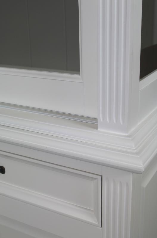 Winkelkast 150 cm wit taupe kasten henk schram meubelen - Taupe kamer en wit ...