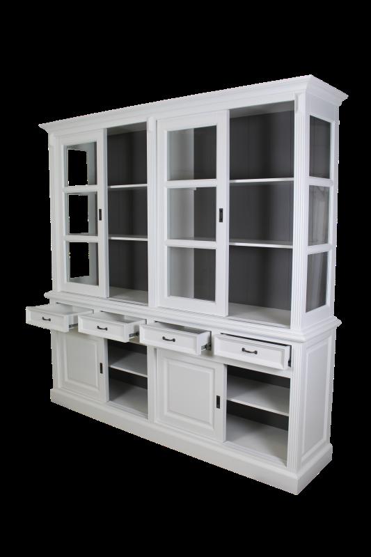 Display Cabinet 220 Cm White Dark Grey Cabinets Henk Schram Meubelen