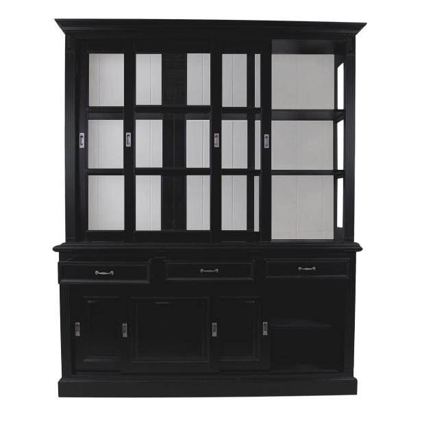 Buffetkast - 180 cm - zwart/wit