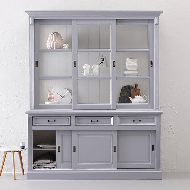buffetkast 180 cm grijs wit kasten henk schram. Black Bedroom Furniture Sets. Home Design Ideas