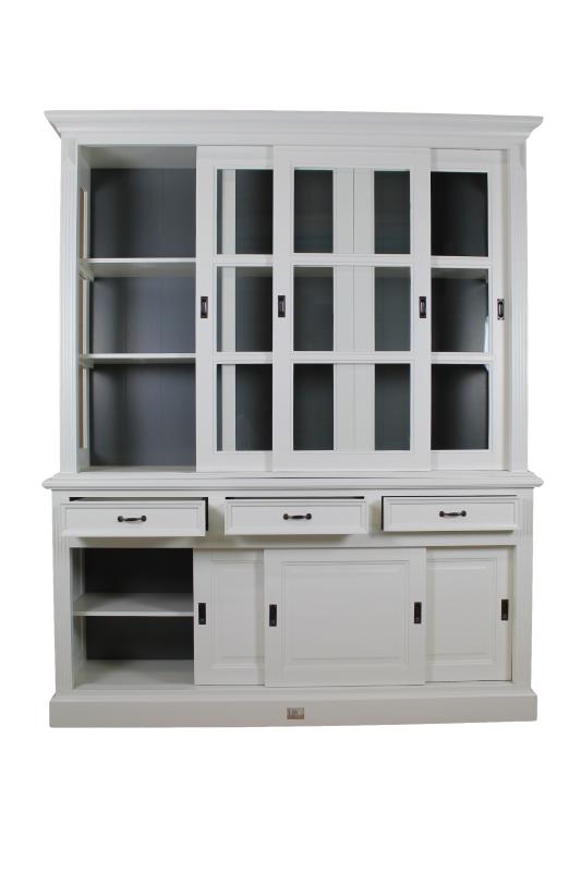 Buffetkast - 180 cm - wit/murano grijs