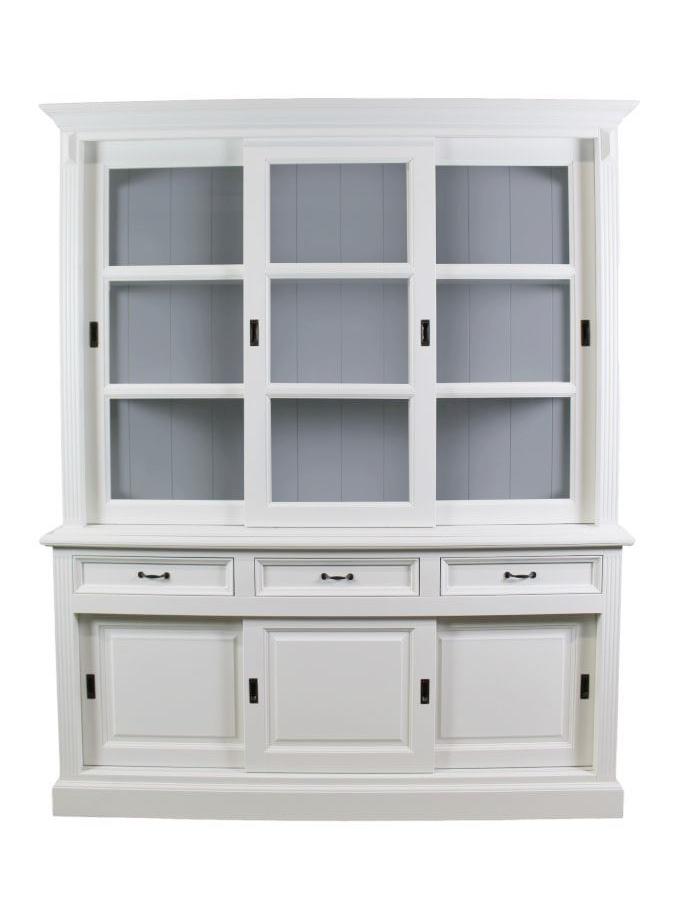 buffetschrank 180 cm wei grau schranken henk. Black Bedroom Furniture Sets. Home Design Ideas