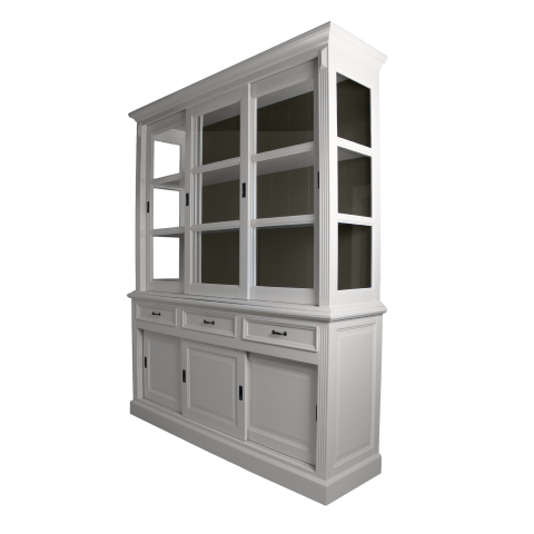 Buffetkast Provence - 180 cm - wit/murano grijs