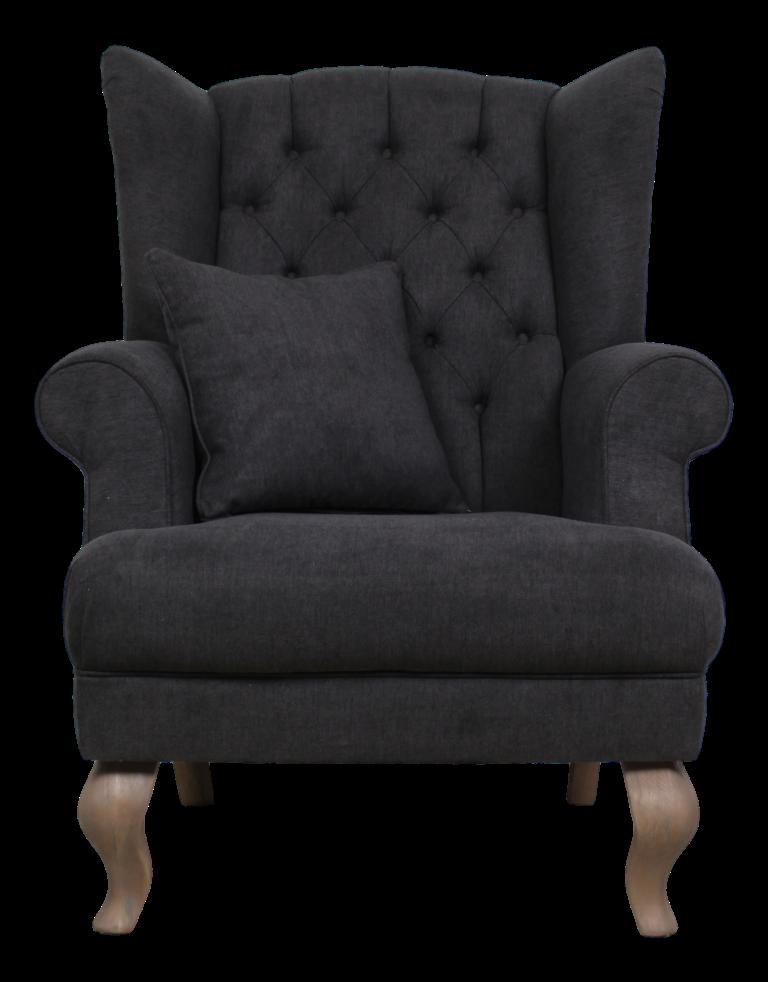 Ohrensessel joly dunkelgrau st hlen sofas henk for Ohrensessel sofa