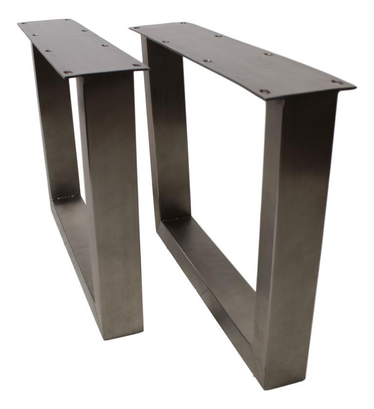 Coffee Table Legs U Model Brushed Stainless Steel Set Of 2