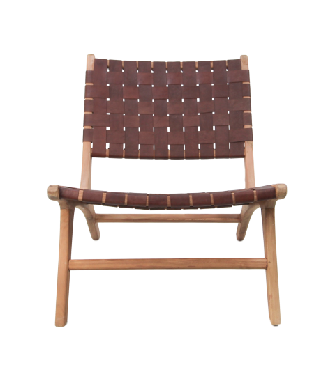 Lounge Stuhl Cognac Leder Teak Stühle & Sofas Henk